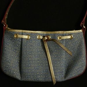 Dooney & Bourke blue and gold handbag NWOT